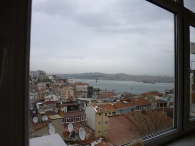 View of the Bosphorus from Istanbul apartment