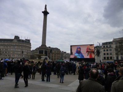 Passion Play in Trafalgar Square