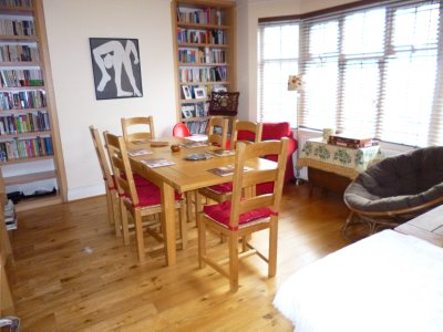 Our London house: very cheery and homey