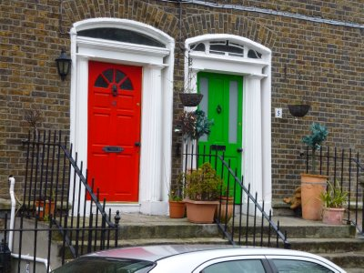 Typical Georgian Style Doorways in Dublin