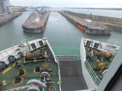 Lock for Entering Liverpool Port
