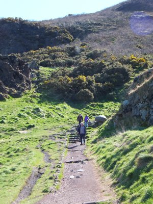 Walking up to Arthur's Seat