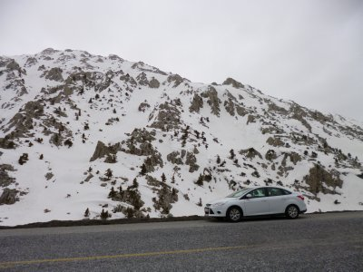 Driving through the Mountains on our trip from Antalya to Konya