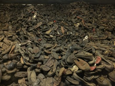 Auschwitz: victims' shoes