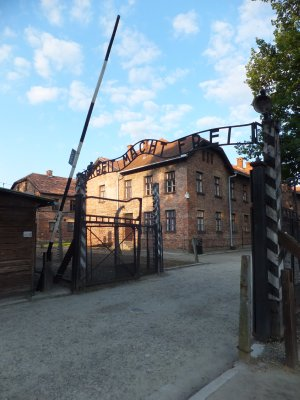The gate to Auschwitz