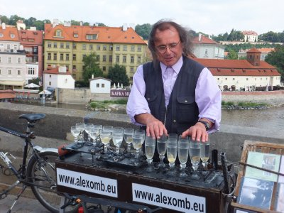 Musician on Saint Charles Bridge