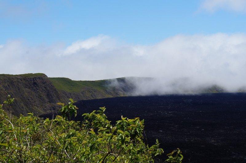 The crater of Volcan Sierra Negra