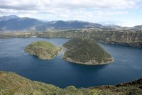 The Opening Between the Islands of Lake Cuicocha