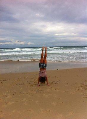 handstands in Noosa