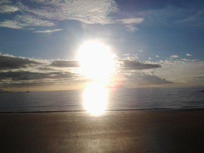 sunset on mainland