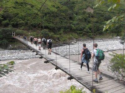 A suspicious bridge we had to cross
