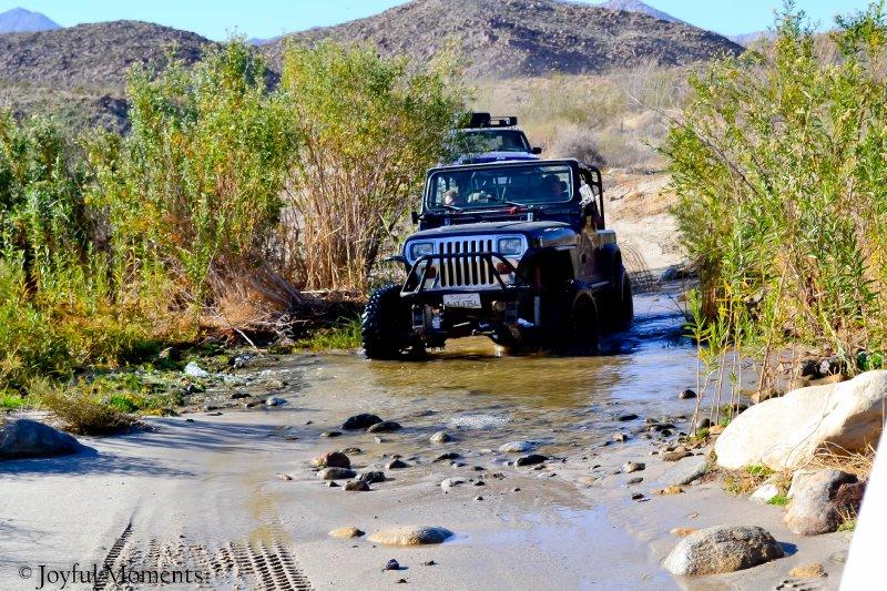 Through the creek