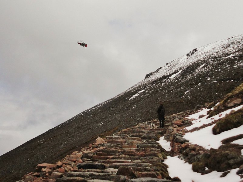 Rescue Helicopter from Ben Nevis