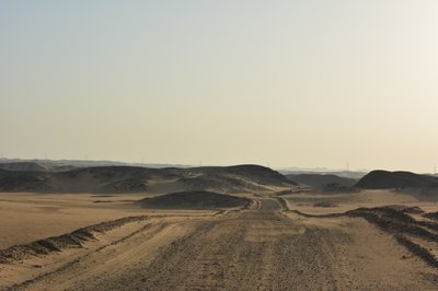 Lake Nubia- weg naar de kampeerplek