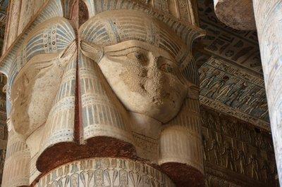 Egypte--Dandara-Tempel van Hathor