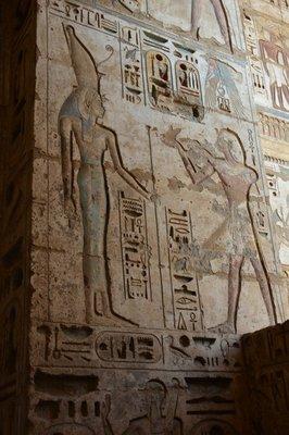 Egypte--Luxor-Medinat Habu tempel