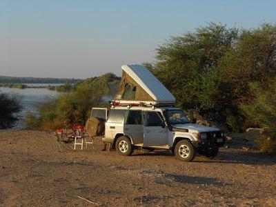 Sudan-- Bushcamping langs de Nijl