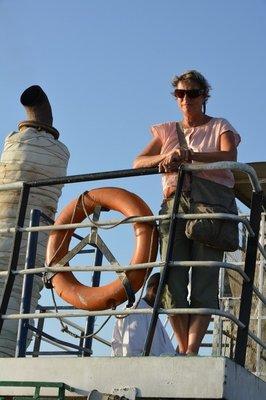 Sudan-Egypte-- Anneke op de ferry