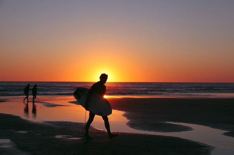 Surfing till sunset