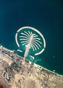 Arial view of Palm Jumeirah