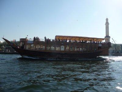 Tour boats on Creek Dubai