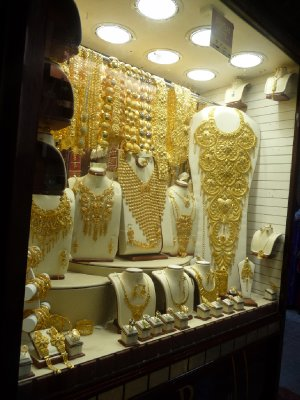 Storefronts dripping with gold