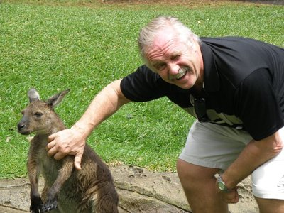 Vic and his kangaroo