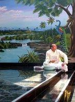 Meditation at Hindu Temple