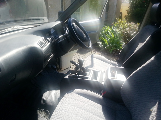 His newly polished interior