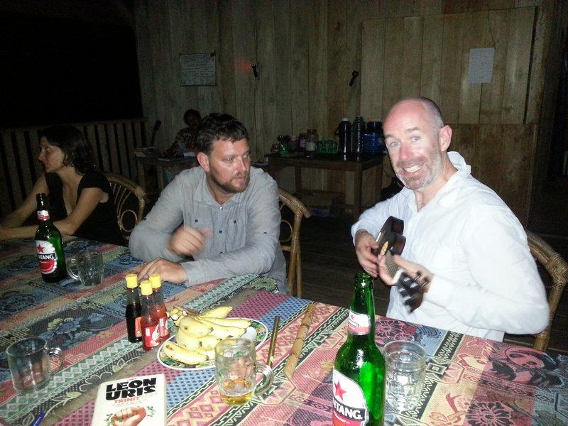 Seamus learning the ukulele