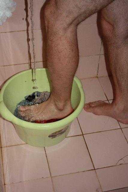 Washing clothes Sulawesi style