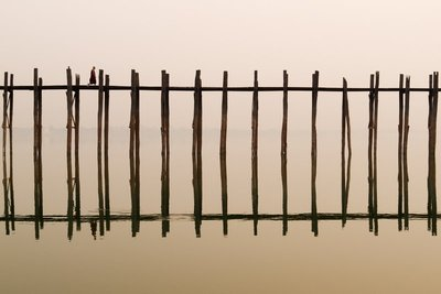 A Monk Passer By The U Bein Bridge