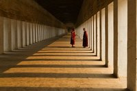 Novices at The Corridor of Shwezigon Paya