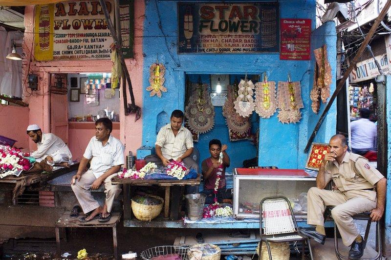 Flower Shop in Old Delhi