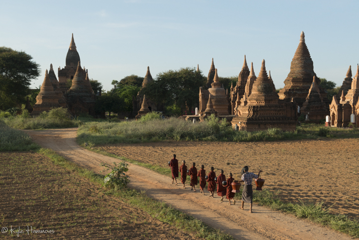 Monks at Bagan