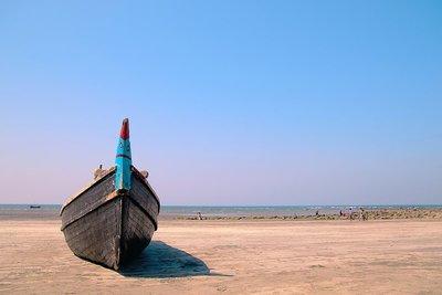 A boat in Saint-Martin Island