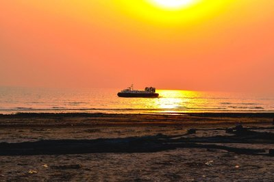 Hovercraft patrolling the coast