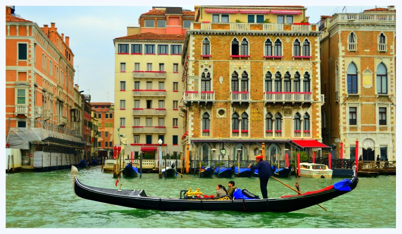 Gondola in Venice ..