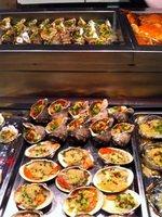 Fresh seafood at a market stall, Xiamen, China
