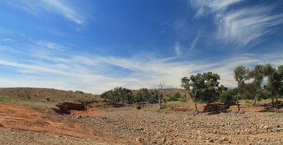 Dry River Bed, Mundi Mundi Plain, near Broken Hill, New South Wales