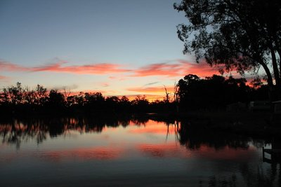 Sunset, Darling River, Wentworth, New South Wales