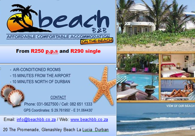 Budget On the Beach Accommodation