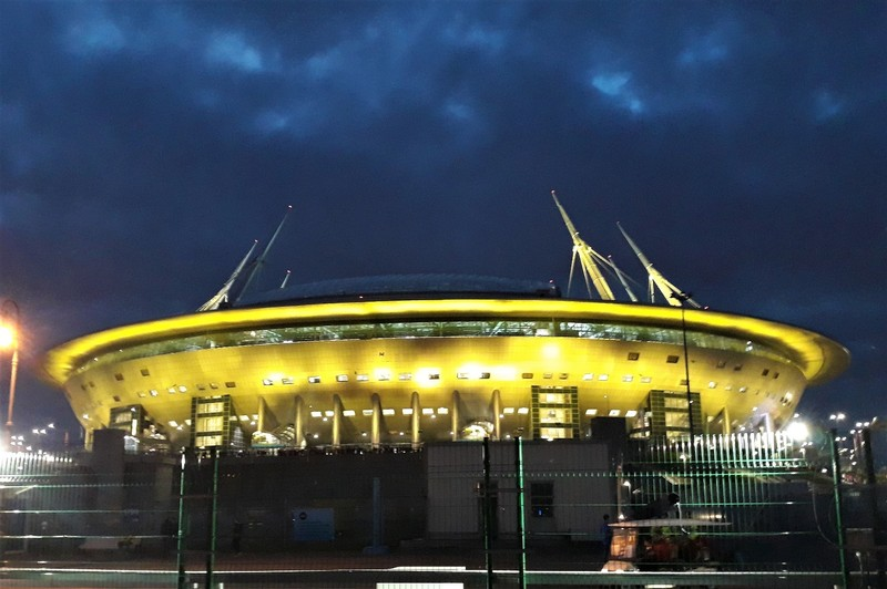 After the semi-final, St Petersburg Stadium