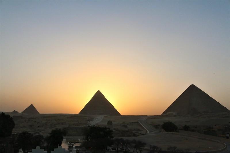 Four Pyramids at Sunset