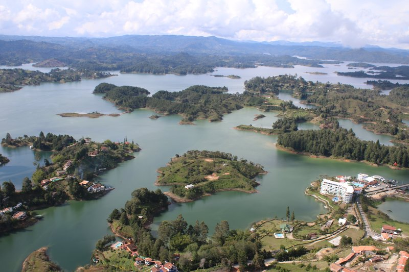 Guatape From the Rock