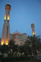 Grand Mosque Bahrain at dusk