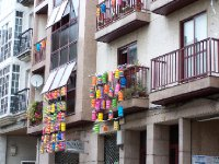 Balconies in Celanova, Spain