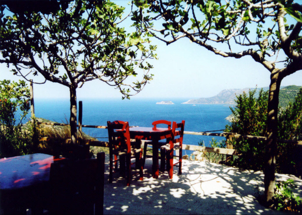 Alonissos Chora view from Aloni tavern