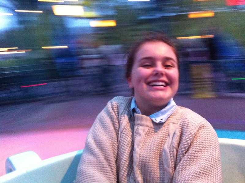 Allanah on the Mad Hatter's Teacups