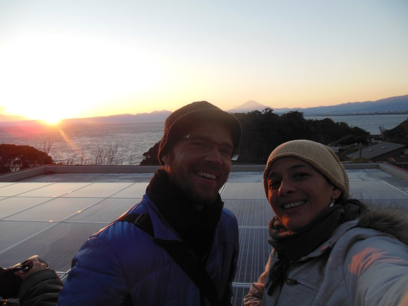 Keith, Ana and Mount Fuji